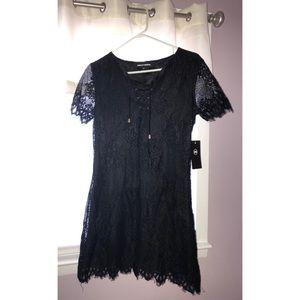 Ashley Mason medium black lace dress new with tags